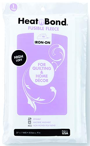 (Thermoweb Heat'n Bond High Loft Iron-On Fusible Fleece-White 20