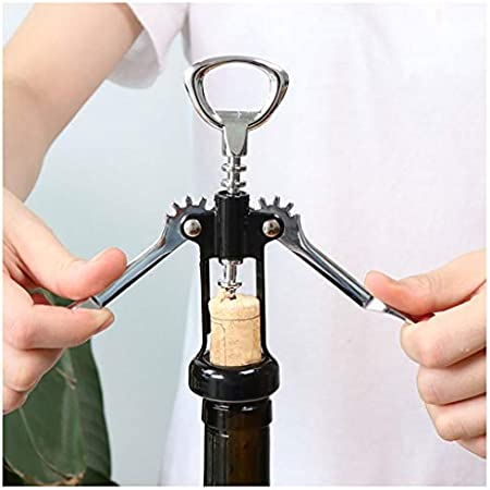 Sacacorchos para Botellas Botella negro multifuncional sacacorchos del vino rojo casquillo de la cerveza del sacacorchos del corcho del sacacorchos del vino adecuado for los bares y restaurantes Abrid