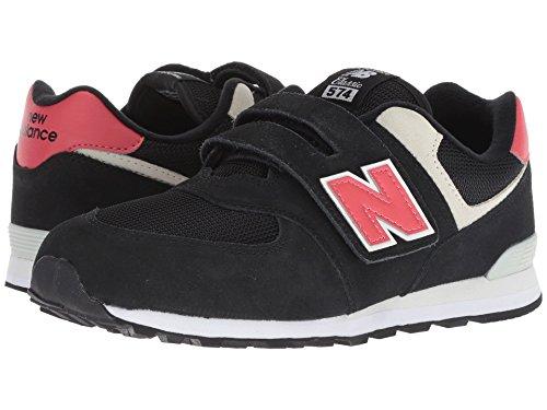 [new balance(ニューバランス)] メンズランニングシューズ?スニーカー?靴 YV574v1 (Little Kid/Big Kid) Black/Pomelo 6 Big Kid (24-24.5cm) W