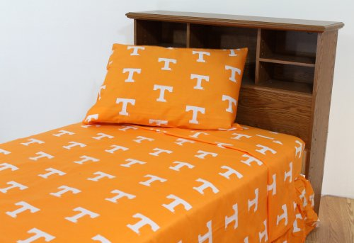 College Covers Tennessee Volunteers Printed Sheet Set - Queen - Solid