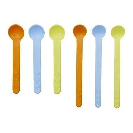 IKEA SMASKA - 6 piezas conjunto cuchara alimentación / bebé