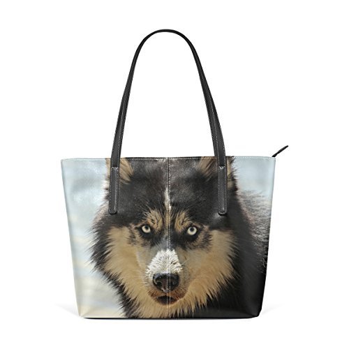 2d03a70fbf23 DEYYA Husky Sled Ddogs Printing Top Handle Handbags Tote Bag Shoulder Bag  for Women