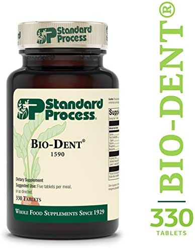 Standard Process - Bio-Dent - Bone and Muscle Supplement, 100 mg Calcium, 50 mg Phosphorus, 7 mg Manganese, Supports Skeletal and Muscular Health, Cellular Function - 330 Tablets