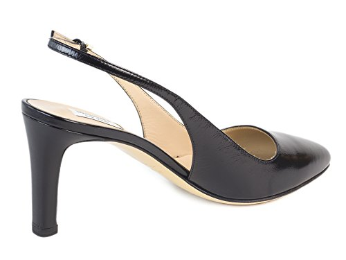 MaxMara Women's Ceylon Leather Slingback Pumps US 7/IT 37 Black by MaxMara (Image #1)