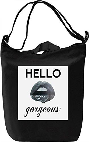 Hello Gorgeous Borsa Giornaliera Canvas Canvas Day Bag| 100% Premium Cotton Canvas| DTG Printing|