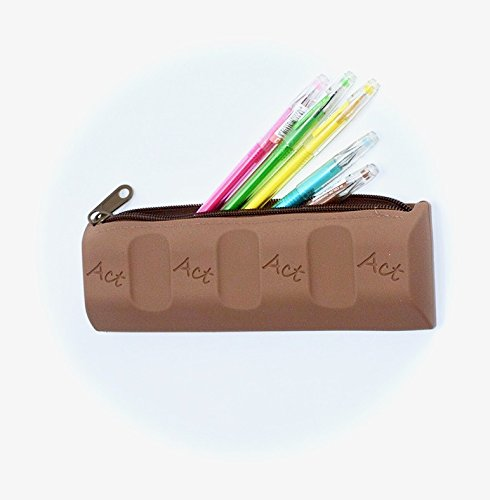 Chocolate Thank You Coins (Chocolate Pencil Bag School case Cosmetic Bag Coin Purse Makeup Storage for Kids and Ladies)