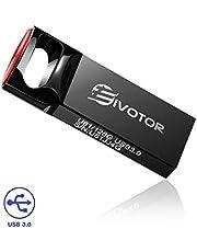 Clé USB 128Go 3.0, EIVOTOR Mini Lecteur Flash Drive Clé Mémoire Stockage Memory Stick Disque U Étanche Portable pour PC/Ordinateur Portable/Voiture