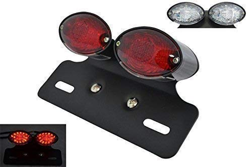 Motorbike LED Rear Stop Tail Light with Bracket comes with Red and Clear lens Alchemy Parts & Accessories