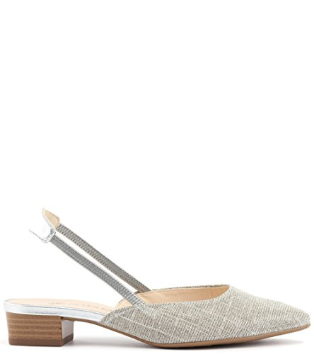 Low Castra Heel Women's Peter Sand In Kaiser Dressy Beige Sandals Shimmer 4ISSO5wFqn
