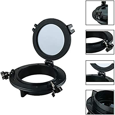 """Boat Yacht Round Opening Portlight Porthole 10/"""" Replacement Window ABS /& Black"""