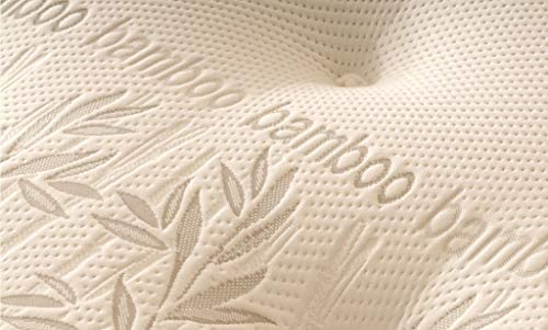Comfy Living Natural Bamboo Sprung Mattress 3FT 4FT6 5FT KING SIZE (4ft6 Double)