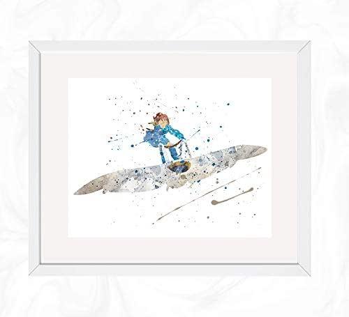 Amazon.com: Nausicaa on her Glider Prints, Nausicaa of the