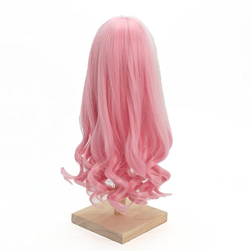 1/6 BJD Doll Wig High Temperature Synthetic Fiber Long Loose Wavy Pink to White Hair Wig for 1/3 1/4 1/6 1/8 BJD SD Doll