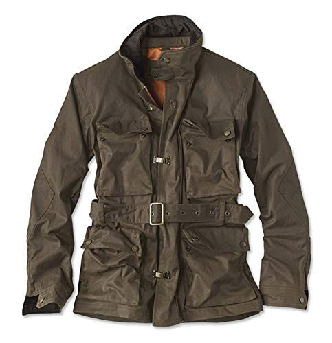 - Orvis Men's Stretch Wax Moto Jacket, Medium Brown