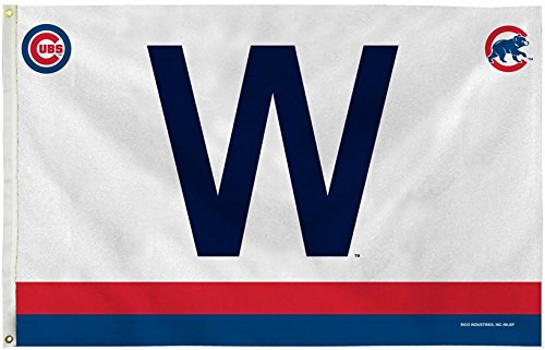 Officially Licensed MLB Chicago Cubs Brand New W Flag 3'x5'