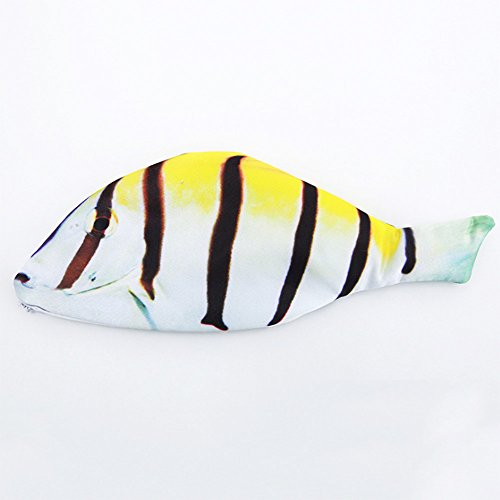 SPHTOEO Stripe Clown Fish Shape Zipper Pouch Weird Pen Pencil Bag Case (Clown Shape)