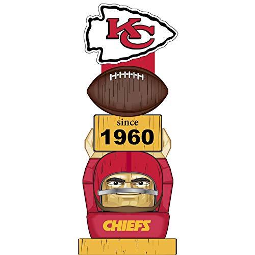 Team Sports America Kansas City Chiefs Vintage NFL Tiki Totem Statue