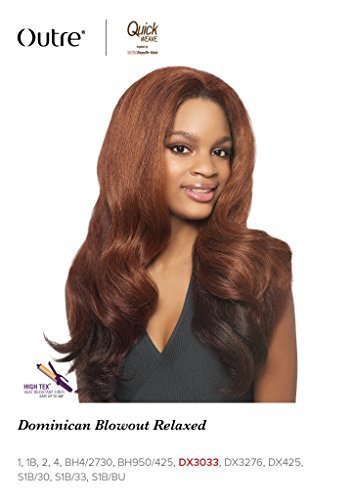 (Outre Quick Weave Synthetic Half Wig Batik Bundle Hair DOMINICAN BLOWOUT RELAXED (1B))