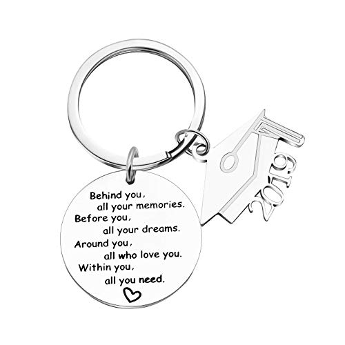 2019 Graduation Gift Keychains-Go Confidently in The Direction of Your Dreams Live The Life You Have Imagined (Style ()