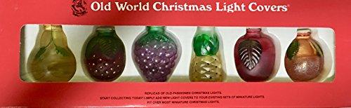 Old World Christmas Fruit Light Covers for String Lights ()