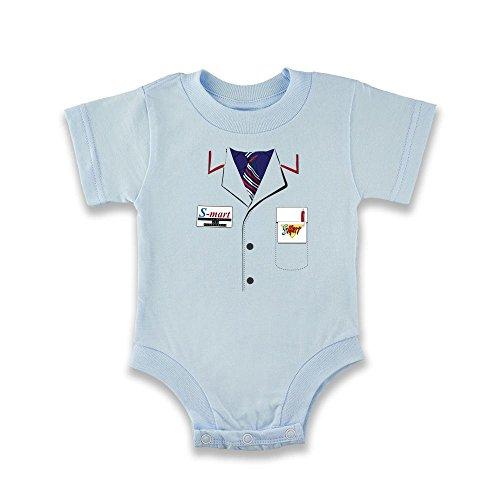Bruce Campbell Ash Costumes (Ash Shop S-Mart Costume Light Blue 12M Infant Bodysuit by Pop Threads)