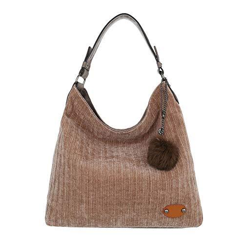 De Beige Design Hombro Para Mujer Bolso Ital Al Lona 5rwc6xqqs xfwn7A