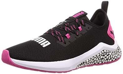 PUMA Women's Hybrid NX WNS Outdoor Multisport Training Shoes, Puma Black-Fuchsia Purple, 6.5 US