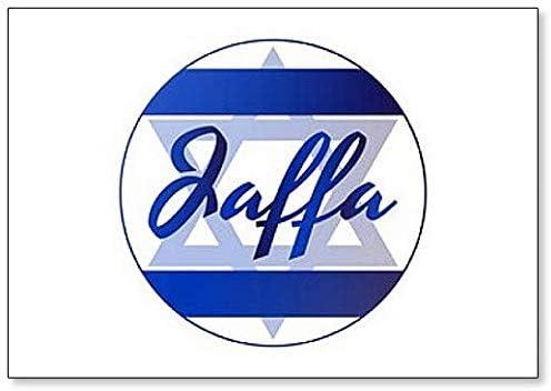 Im/án para nevera de David Star and Inscription of City Name Jaffa