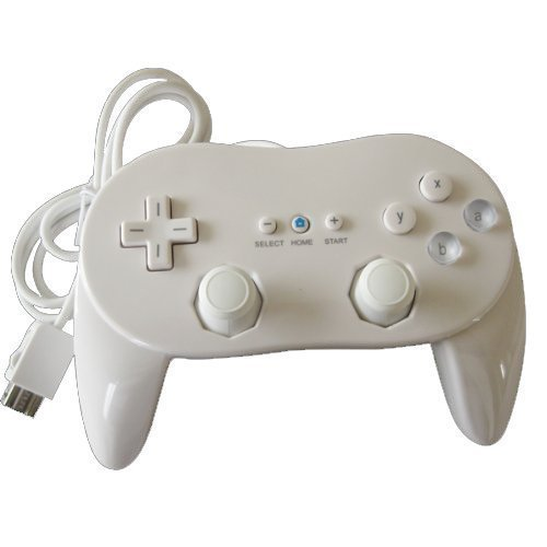 Generic Classic Pro Controller For Nintendo Wii/WiiU White by Generic