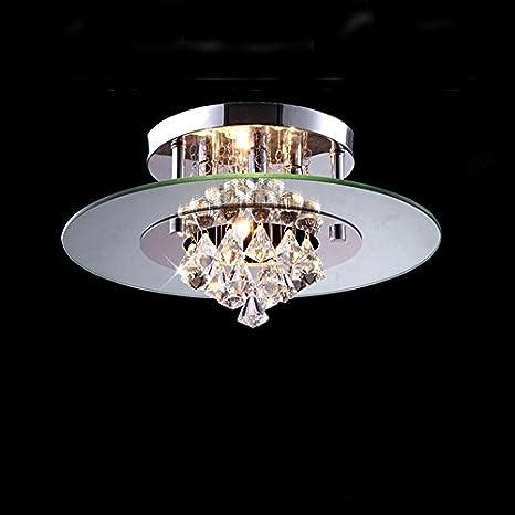 illuminazione 3 luci lampadario a forma rotonda con cristallo appeso ...