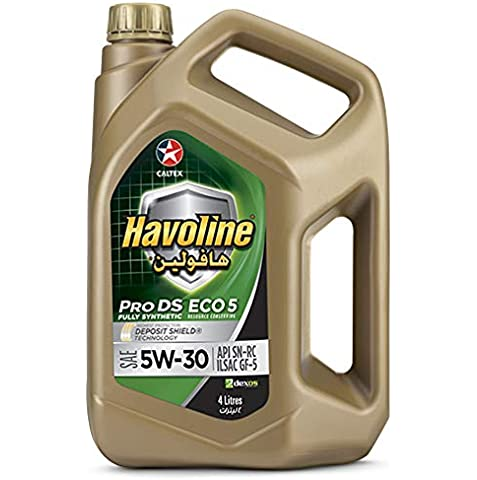 Caltex Havoline Pro DS Fully Synthetic Eco 5 SAE 5W-30 Engine Oil - 4 Liter