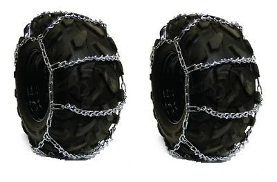 PAIR 4 Link TIRE CHAINS 29x12x15 for Kubota Lawn Mower Garden Tractor Rider by The ROP Shop by The ROP Shop