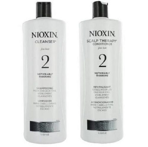 Nioxin System 2 Cleanser & Scalp Therapy Duo Set 33.8oz H...