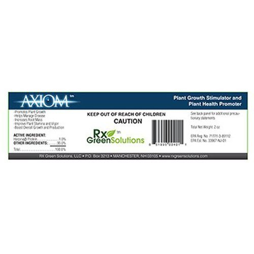 Rx Green Solutions RXAXM2OZ Axiom Harpin Protein for Plant Growth, 2-Ounce