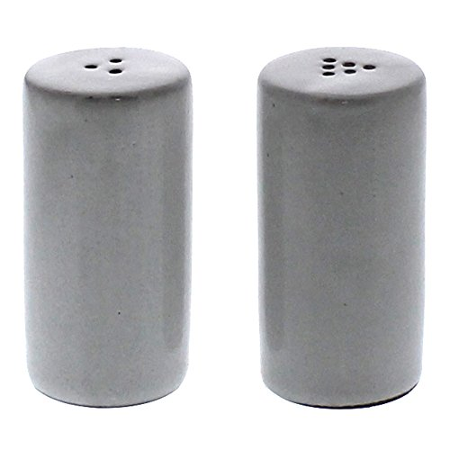 Retro Classic Salt Pepper Shaker Set | White Ceramic Vintage Style