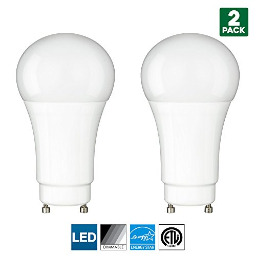 2 Pack Sunlite GU24 Base LED Bulb, Dimmable, 10 Watt (60 W Equivalent), CFL Replacement, 2700K Warm White, 800 Lumens, 25000 Hour Life Span ()