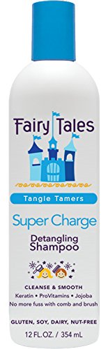 Fairy Tales Tangle Tamer Super Charge Detangling Shampoo for Kids - 12 oz (Best Shampoo For Static Hair)