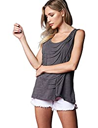 WOMENS DRAPING STRING FRONT DETAIL TOP