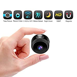 Hidden Camera Mini Spy Camera, Closeye Full HD 1080P Wireless WiFi Spy Cam/Small Indoor Home Security Camera/Nanny Camera with Night Vision and Motion Detection-Black