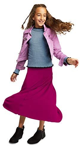 KIDPIK Raw Edge Maxi Skirts for Girls