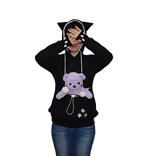 [해외]Womens Hoodies 애완 동물 홀더 Cat Kangaroo Pouch Carriers 풀오버 스웨트/Womens Hoodies Pet Holder Cat Kangaroo Pouch Carriers Pullover Sweatshirt