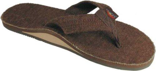 Rainbow Sandals Men's Hemp Single Layer Brown XX-Large (12-13.5) [Apparel] (Sandals Rainbow Nylon)