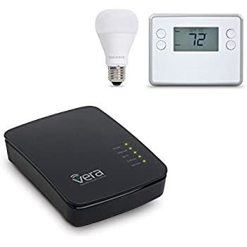 Vera Control Smart Home Thermostat Lighting Starter Kit with VeraEdge Controller, GOControl Z-Wave