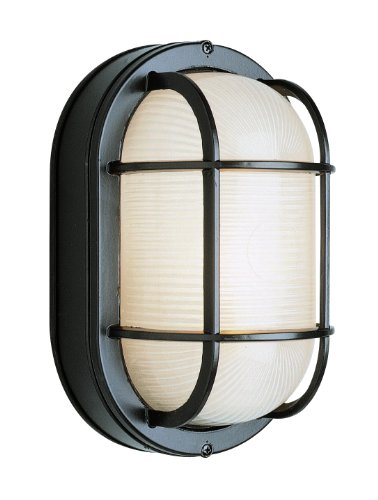 Bulkhead Wall Fixture - Trans Globe Lighting 41005 BK Outdoor Aria 8.5