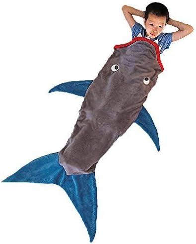 Jellbaby Sac de loisir pour enfant Shark d/ét/é Climatisation Canap/é Couverture Couverture Mermaid Funny Cadeau danniversaire