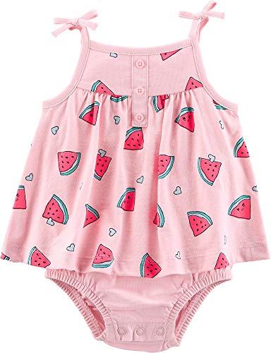 Carter's Baby Girls Watermelon Heart Tank Sunsuit 6 Months Pink/Green