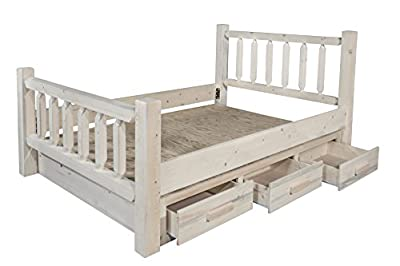 Montana Woodworks MWHCSBQ Bed with Storage, Queen