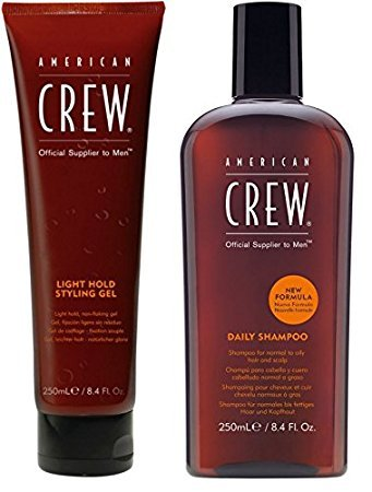 (! American Crew Groom To Win Combo Deal: American Crew Light Hold Styling Gel, 8.4 Ounce Tube + American Crew Men's Daily Shampoo, 8.45 Fluid Ounce (New Formula).)