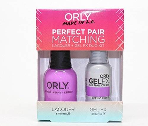 Orly Perfect Pair Matching Nail Polish + Gel FX Combo 2ct/pk (30875 - Scenic Route) (Combo Scenic)