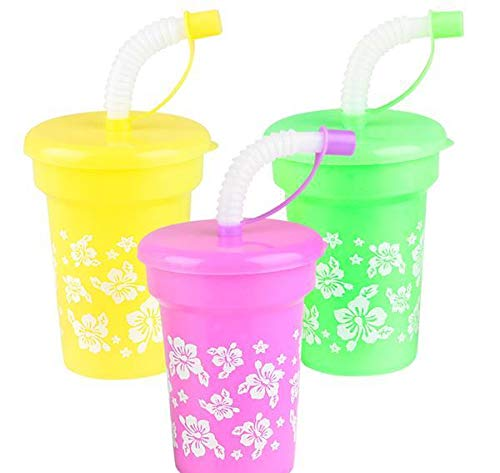 3.75 inches 6 oz Hibiscus Straw Cup, Case of 288